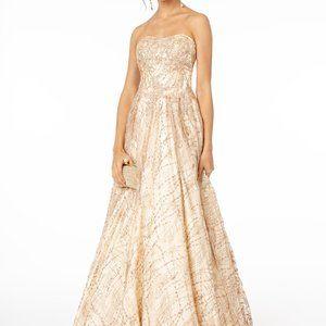 Strapless Sequined Ballgown Shape Dress GSGL2921